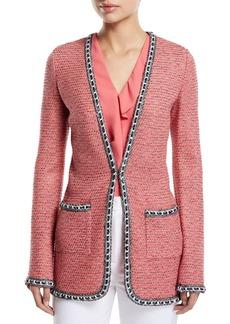 St. John Bibi Knit Tweed Jacket