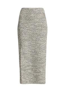 St. John Bouclé Knit Slit Pencil Skirt