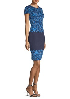 St. John Brocade-Knit Sheath Dress