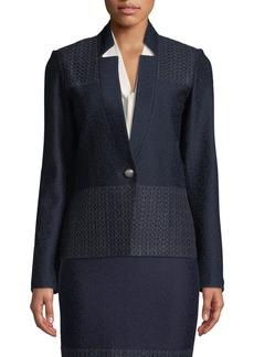 St. John Caris Knit Lace-Trim Jacket