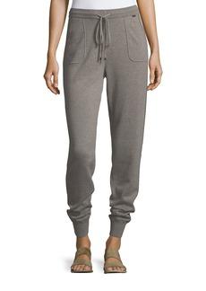 St. John Cashmere Jersey Knit Pants