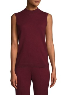 St. John Cashmere Sleeveless Sweater