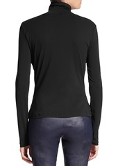 St. John Caviar Collection Fine Jersey Turtleneck Top