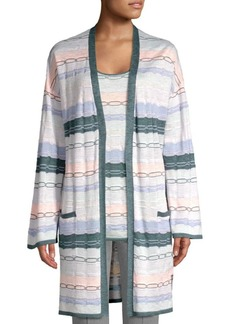 St. John Chain Knit Draped Sweater
