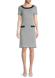 St. John Checkered Knit Dress