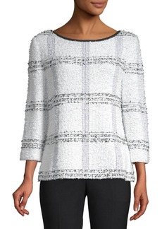 St. John Checkered Quarter-Sleeve Tunic