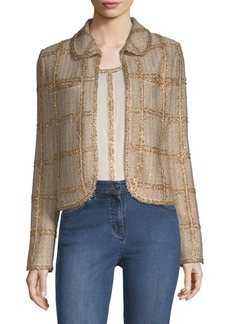 St. John Checkered Tweed Jacket