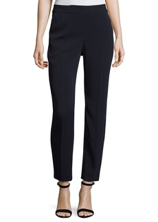 St. John Classic Emma Stretch Cropped Pants  Navy