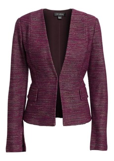 St. John Collarless Tweed Jacket