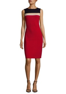St. John Colorblock Sheath Dress