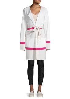 St. John Colorblock Wool & Cashmere-Blend Coat