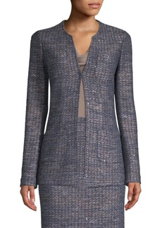 St. John Copper Sequn Tweed Knit Jacket