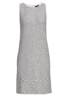 St. John Crepe Tweed Shift Dress