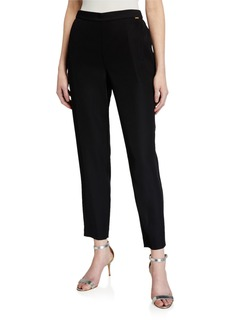 St. John Cropped Twill Pull-On Pants