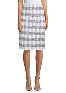 St. John De Larios Plaid Skirt