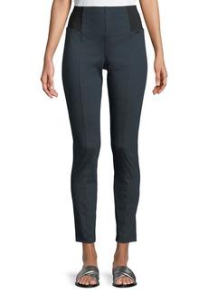 St. John Denim Ponte Cropped Slim Pants