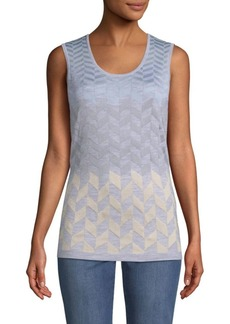 St. John Dégradé Herringbone Jacquard Knit Top