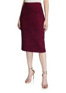 St. John Diagonal Knit Pull-On Skirt