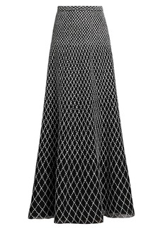 St. John Diamond-Knit Maxi Skirt