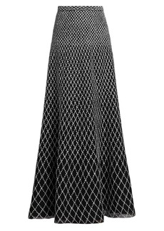 St. John Diamond-Knit Maxi Skirt