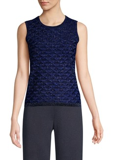 St. John Diamond Lace Knit Shell