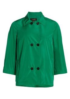 St. John Double-Breasted Taffeta Jacket