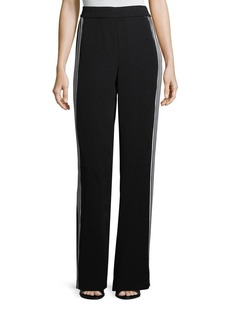 St. John Drapey Side-Stripe Pants