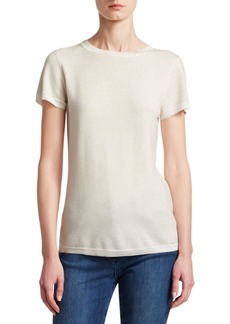 St. John Feather Weight Jersey Cashmere Knit Tee