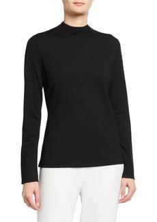 St. John Fine Gauge Santana T-Neck   Sweater
