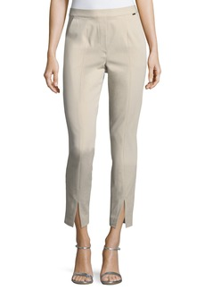 St. John Fine Stretch Twill Pull-On Pants