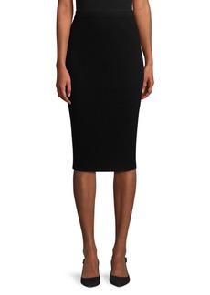 St. John Flat Rib Knit Pencil Skirt