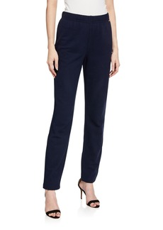 St. John French Terry Elastic Pull-On Pants