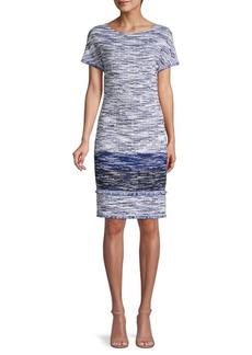 St. John Fringed Shift Dress