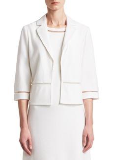 St. John Gail Knit Three-Quarter Sleeve Jacket