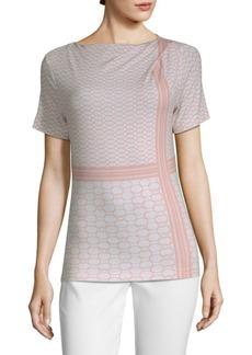 St. John Geo-Stripe Jersey T-Shirt