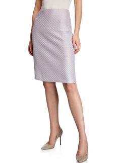 St. John Hansh Textured Knit Sequin Pencil Skirt