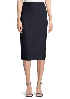St. John Hemp-Knit Midi Pencil Skirt