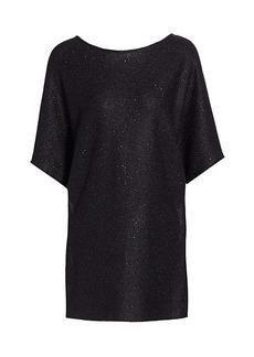 St. John Honeycomb Knit Dolman Sleeve Tunic