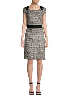 St. John Inlaid Eyelash Knit Sheath Dress