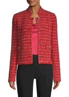 St. John Inlay Boucle Stripe Tweed Jacket