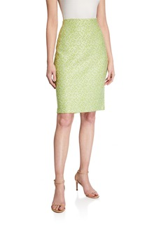 St. John Islandia Knit Pull-On Pencil Skirt