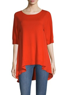 St. John Jersey Knit Bateau Neck Top