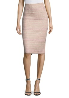 St. John Knit High-Waist Pencil Skirt