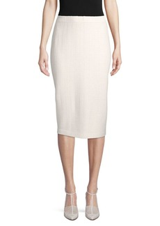 St. John Knit Wool-Blend Midi Skirt