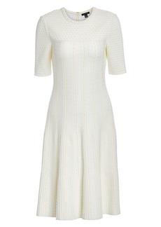 St. John Lace Jacquard Dress