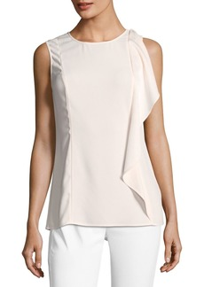 St. John Lightweight Satin-Back Crepe Top