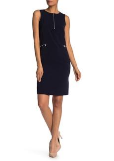 St. John Lightweight Sleeveless Shift Dress