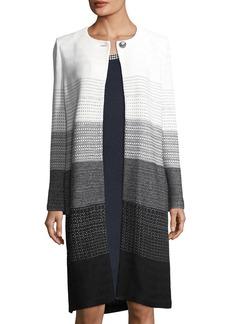 St. John Linear Degrade Long Knit Jacket