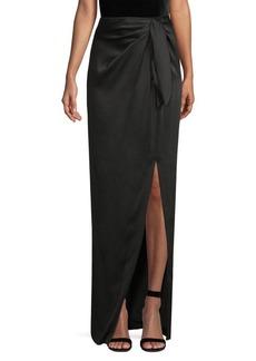 St. John Liquid Crepe Draped Long Skirt
