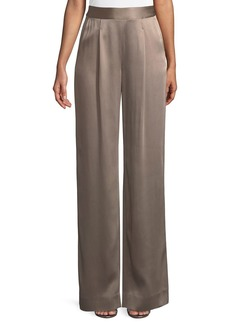 St. John Liquid Crepe Pants w/ Pleats
